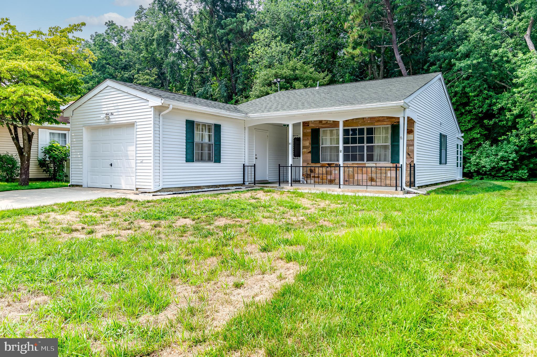Welcome to this popular Gladwyne Model. 2 Bedroom, 1 1/2 Bathroom with Sun room. Enter covered front porch to protected access to garage. Kitchen has newer cabinets, backsplash, counter tops, appliances, and water line to refrigerator. Walk thru dining area to Sun room. The back yard is private lined with trees and has a large patio.  Back inside, the main bathroom has been upgraded with walk in  shower. Half bath has new vanity and medicine cabinet. Ceiling fans in dining area, bedrooms and sun room.  The Settlers club house is in walking distance as is the pool and exercise room. Leisuretowne has many amenities for your active life style. 2 pools, clubhouses with libraries and meeting rooms. Lakes, tennis courts, putting green, driving range, bocce, shuffle board, bus transportation, clubs and exercise/weight room. 24/7 security. Seller to provide at closing a HSA one year Home Warranty for your peace of mind. Any HOA notations will be the responsibility of the Buyer.