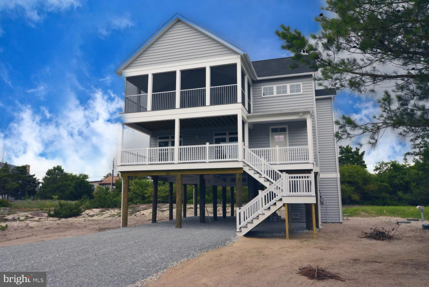 ARE YOU LOOKING FOR NEW CONSTRUCTION A SHORT WALK TO THE BEACH! This beach home will be one of the best built homes to live in on Broadkill Beach. It features 3 bedroom's plus an office that could be used as a 4th bedroom, 2.5 bathrooms, large open living room with stone fireplace that opens to the kitchen. Looking to entertain? Look no further then this spacious kitchen with soft close cabinets, stainless steel appliances, walk in pantry, and more.  Extra home features include elevator, hardwood floors, tankless hot water heater, and more .  Take in the outdoors and enjoy the large screened in porch on top floor, a 2nd porch on the main level off the bedrooms. Enjoy partial views of the Delaware Bay and Primehook National Wildlife Refuge with a convenient walk to the beach that is 1 block away. Still time to work with the builder to customize your homes finishes. Photos are of a similar home that was built.