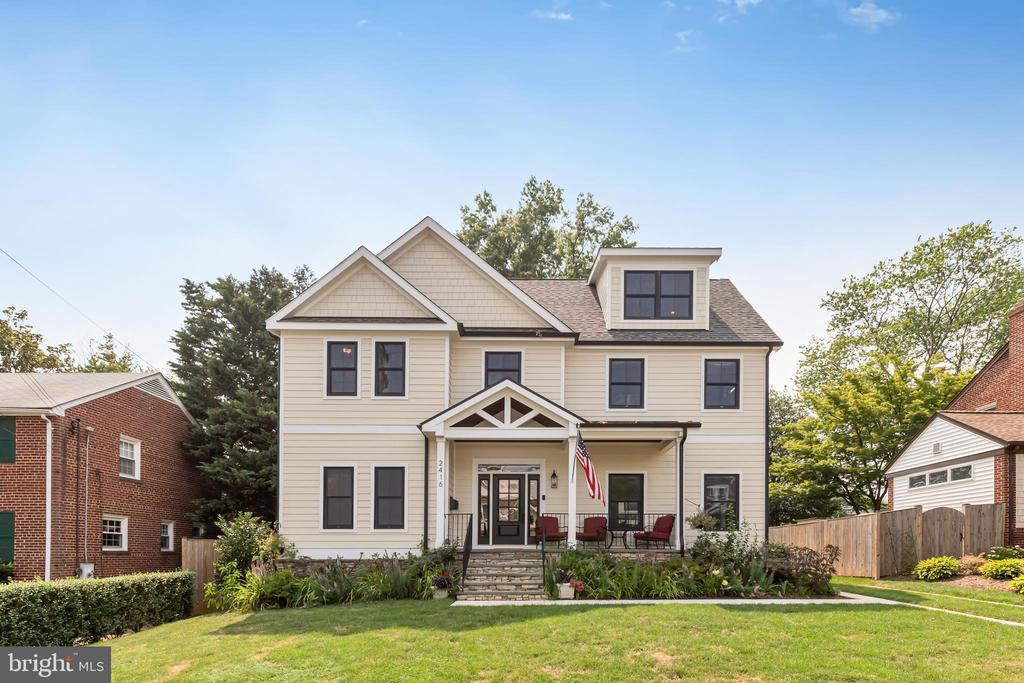 Welcome to this stunning 5BR/4.5BA almost new home.  Conveniently located in the heart of N Arlington and just steps from the East Falls Church Metro this home has numerous builder updates throughout.  As you walk through the front door you are greeted by a large entry foyer and open floor plan.  The main level features hardwood floors, gas fireplace, built-in shelving, a chefs gourmet kitchen with quartz counters, enormous center island, SS JennAir appliances, breakfast area, half bath and access to a front porch, rear yard and patio area for outdoor living.   The home has four finished levels offering stylish and flexible space.  Complete with a spacious master bedroom with hardwoods, huge walk-in closet with built-in wood shelving, two additional second floor bedrooms, an upper-level walk-in laundry room, a loft bedroom with bath and a lower level that features an additional rec room, bedroom and full bath. There is an additional detached 2-car garage and abundant storage space throughout the home with nearly 4,100 sqft of total space. Near Tuckahoe Park, numerous trails and other outdoor adventure areas.  An almost new home and exciting location to call your own. Open Saturday 7/24 from 1-3pm.