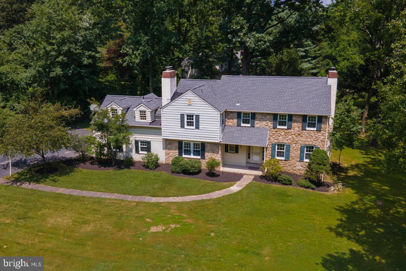 Elegant and classic stone colonial home in excellent Radnor school district.  Beautiful level lot, 4  bedrooms, 3 full bath, and 1 half bath, family room,  plus a large office that can be used as the 5th bedroom. Finished walk out basement with daylight,  two stair cases, two car garage, 3 fireplace. Large bright rooms, walk-up attic with the potential of huge extra useful space. Tons of recent upgrades, including but not limited to  high quality brand new roof 2021, new windows 2021, new  water heater 2021,  new washer 2021, new dryer 2021, new dishwasher 2021, fresh painted whole house 2021, and new basement flooring 2021.