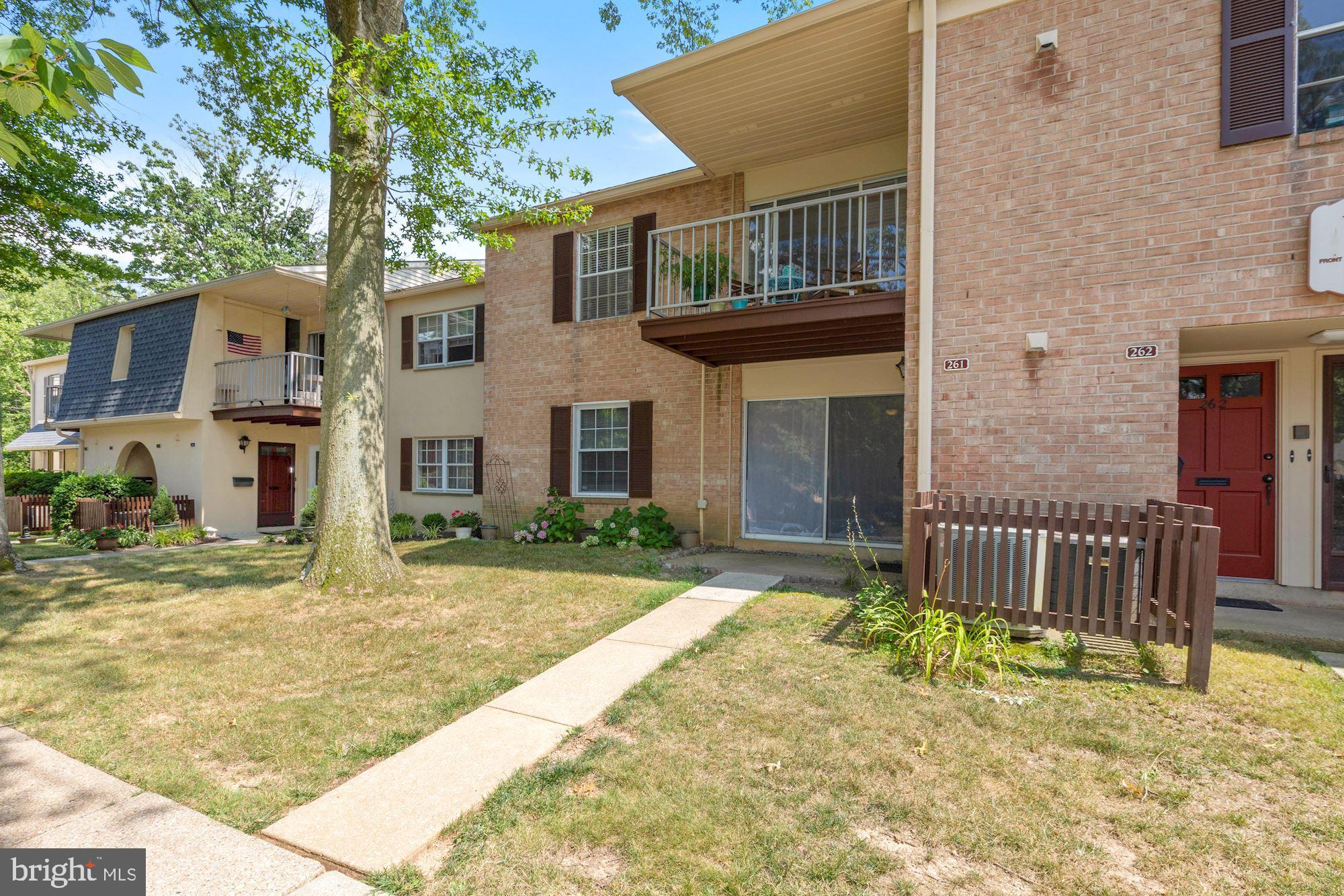Welcome to 261 Old Forge Crossing. At 875 Square feet this is one of the larger one bedroom units in the community. Included in the 875 square feet is a large walk in closet, a laundry and foyer. The seller has opened up the wall between the kitchen and living room and installed a quartz countertop. Just what you have been waiting for is in Old Forge Crossing, a first floor, garden entrance style condominium, close to parking.  Ready for immediate occupancy just in time to enjoy the community pool and tennis courts. This unit has an open layout featuring a spacious living room with a large sliding glass door to a patio, a dining room leading to the  kitchen featuring lots of cabinets, pantry, lighting, and a spacious  refrigerator. Walk down the hallway to the spacious bedroom with a walk-in closet. Back down the hallway is the laundry closet with a full-size washer and dryer, shelving, and a full bath with tub/shower combination and linen closet. Wall to wall carpeting  in the living, dining room, bedroom and hallway. Old Forge Crossing is an award-winning and well-run condominium community and has plenty to offer;. Enjoy time at the community pool or a game of tennis in one of the two courts included in the condo fee, also included is the gas for cooking and gas for the dryer, hot water, all outside maintenance including snow removal from your walkway. This highly sought-after development is situated on forty beautifully landscaped acres featuring well maintained grounds and walking paths.  OFC provides private access to the new Chester Valley Trail. It's a short commute to the Devon or Wayne train stations and bus routes to the city, routes 202, 476, and the turnpike.  It's close to health clubs, shopping, and dining at the King of Prussia Towne Center, King of Prussia Mall, Wegmans, Whole Foods.and the Gateway Shopping Center. Valley Forge National Park is a five minute ride. Be sure to put this home on your must-see list.