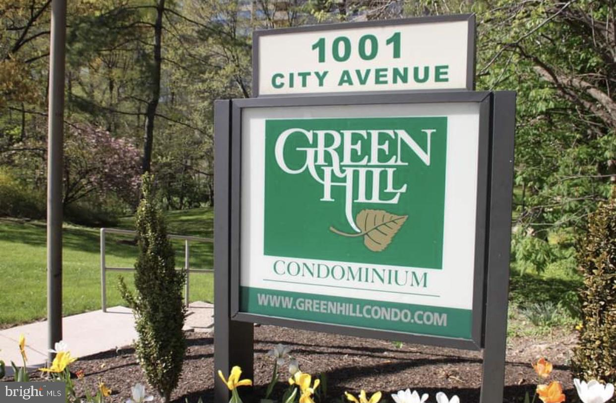 """Welcome to the """"Good Life"""" at Green Hill Condominium!  This newly painted 2 bedroom 2 bathroom condo is located on the 9th floor of the East building.  This beautiful unit has an up-to-date kitchen with brand new top of the line appliances.  There's hardwood flooring throughout the condo and a balcony with tree top serene views.  The Green Hill Condominium community is located on 23 beautiful landscaped acres in the award-winning Lower Merion School District.  This great community is in close proximity of all shopping, restaurants, public transportation, and St. Joseph's & Villanova University.  The amenities in this community include 24 hour security/Gated community, Maintenance staff, Courtesy bus, indoor & outdoor pools, Fitness center(for an additional fee), Tennis courts, Playground, Library, & a 24 hour doorman.  The Condo fee includes all utilities, Common area maintenance, Ground maintenance, Trash & Snow removal.  There is a non-refundable move-in fee of $150 & a $500 refundable move-in fee.  Call to make your appointment today!"""