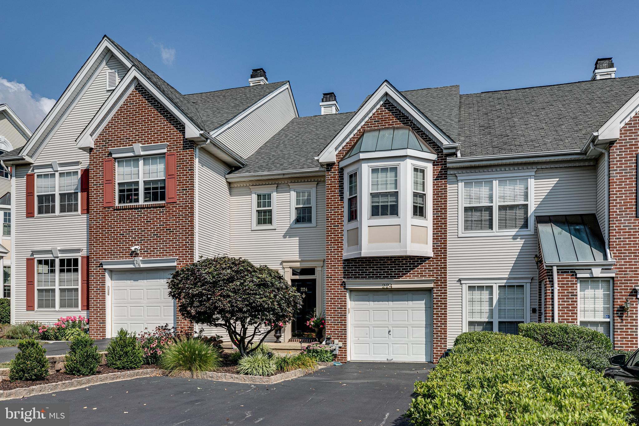 Welcome home to 224 Valley Forge Lookout Place. This beautiful 2 bedroom, 2 and 1 half bathroom luxury-style townhome is located in the desirable Rebel Hill neighborhood within the highly-regarded Upper Merion School District. The elegant foyer is your entrance to the main level, which offers a beautiful 2-story formal living room, tastefully decorated with a neutral color palette. The grand floor-to-ceiling fireplace and windows create a sophisticated ambiance, complete with abundant natural light. Enjoy cooking in the eat-in kitchen that offers contemporary updates. Open the sliders and carry out your morning coffee to enjoy on the spacious, newer Trex deck. A formal dining room and beautifully updated powder room round out the main floor.  Downstairs you will find a fully-finished basement, perfect for entertaining or a casual family room area. A patio underneath the deck offers additional outside space. The basement also includes a generous storage room.  Walk upstairs and up the open staircase to the second floor, which offers the primary bedroom, complete with gorgeously updated en suite bathroom with a spacious shower, double vanity, private water closet and beautiful soaking tub. The primary bedroom also features a walk-in closet complete with high-end built-in organizers. The laundry room is conveniently located on this level, along with an additional bedroom and updated full hall bathroom.  Move in and don't lift a finger, this home is filled with high-end finishes and amenities. Enjoy the convenience of townhome living right on the Main Line. Conveniently located close to all major highways and shopping and dining at Suburban Square and the King of Prussia Mall.