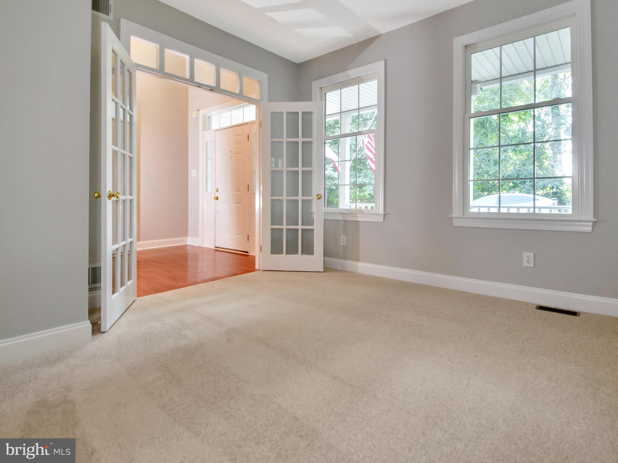 Office with French Doors for Privacy