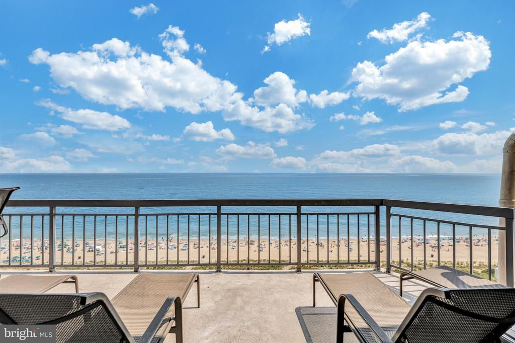 Two story luxury penthouse which can sleep 17-18 family & friends comfortably in this 6 bedroom/4 bath residence! This home boasts a magnificent ocean front balcony. This balcony is on of a kind in Ocean City and is 60 linear feet of direct ocean front goodness. Fear not, at sunset, there are two more balconies for views over the Assawoman Bay. There are 3 ocean front bedrooms and 3 of the bedrooms double as masters.  All six bedrooms include oversized sliding glass doors with either ocean or bay front views. This property is presently in a rental program till the end of 2021. Your choice is to act now and you can choose how to enjoy this home moving into 2022. Available to view Saturday's from 10 am to 3pm only. Private listing agent will graciously attend all showings, drone video, floor plan, and rental income all available.