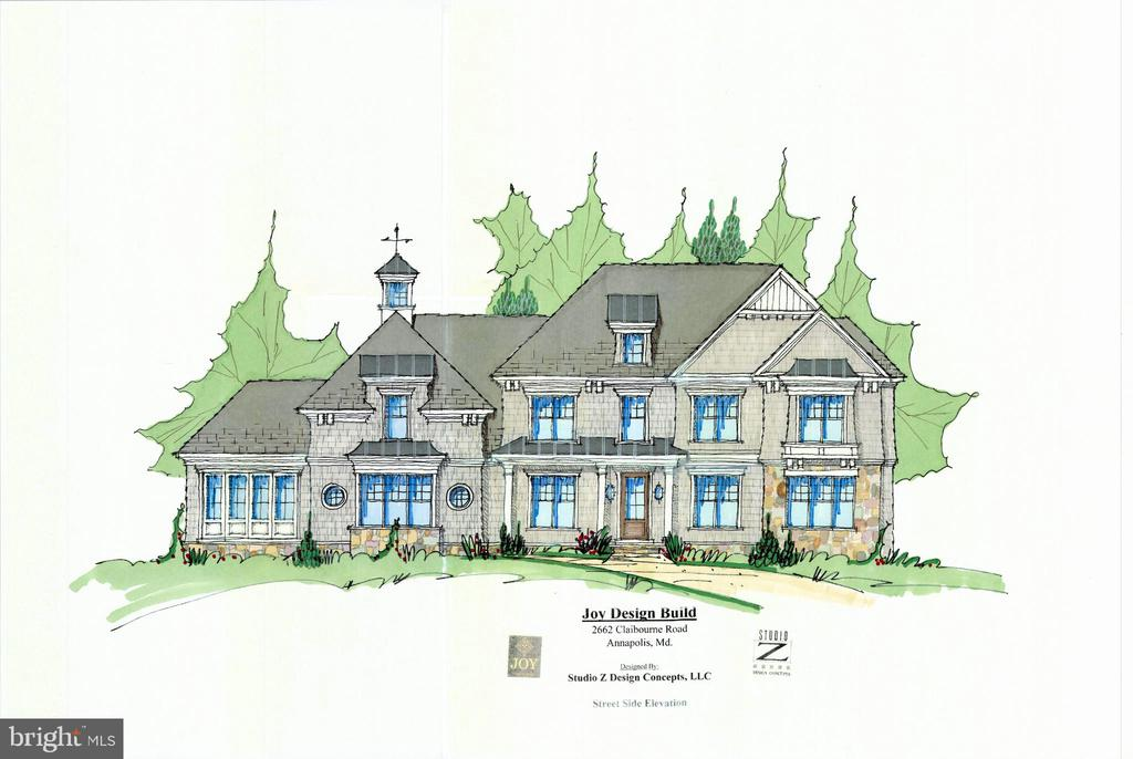 Joy Custom Design Build   TO BE BUILT PACKAGE. Construct your dream waterfront home on this glorious 1.25 acre private lot with 125 ft of waterfrontage on Heron Lake. Lot can be purchased separately for $1,998,000. (AA2009028). The front façade rendering and floor plans are a representation of a home to be built, which may include certain builder options.  The current design includes over 5,700 sqft of living space with 5 bdrms, 6 baths, gourmet chef's kitchen plus a waterside screened porch.  This location would be perfect as a weekend escape with all the water-oriented attributes.  Sweeping panoramic views abound which provide the best of both worlds in waterfront living.  Either sit back and watch the ships navigate through the Bay waters, under the iconic Bay Bridge and beyond or simply savor the intimate views of Otter Lake and its abundance of wildlife.  This property which includes (2) subdivided lots offers sufficient space to accommodate a waterside pool!  Located just minutes from downtown Annapolis and Eastport which offers the perfect balance of small-town charm and big world sophistication.  Traveling or commuting is just as convenient by easily accessing Rt. 50 and 97 which provides direct access to Baltimore, BWI, Ft. Meade/NSA and Washington, DC., or head over the Bay Bridge to the Eastern Shore for a quick beach vacation.  Don't let this once in a lifetime opportunity slip away!