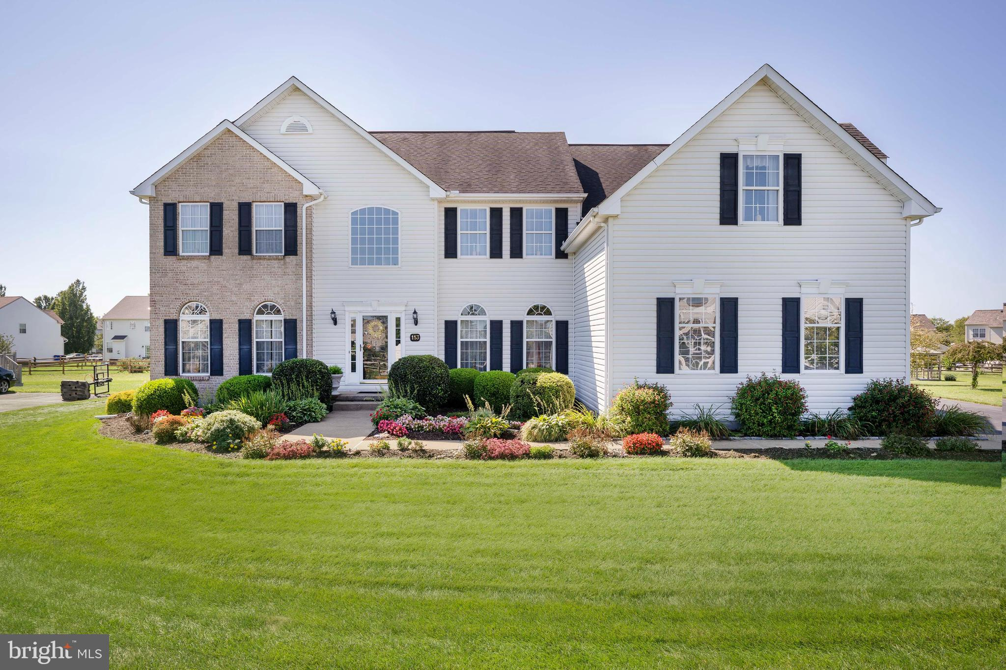 **Awaiting Signatures** **Highest and Best Offers Due 9/12 at 8pm** Will respond to offers Monday by noon! Welcome to 113 Amberwood, Located Within the Friendly Community of Amberwood, in the Award Winning Appoquinimink School District! Situated on a .51 Acre Lot, and Lined with Beautiful Landscaping, this Home is Truly as Stunning on the Outside as it is on the Inside! Upon Entering this Home you'll be Greeted with an Open Arrangement of Living Space Creating a Bright, Airy Atmosphere Throughout the Home. The Open Concept Floor Plan Includes a Family Room Which Flows Perfectly into the Eat-In Kitchen featuring Maple Cabinets, Granite Countertops and Tile Flooring which Allows Plenty of Space for Gatherings. The First Floor Laundry Area Features Ample Storage Space and is Conveniently Located just off the Kitchen. A Formal Living & Dining Room (with Custom Built in's) and A Home Office Complete the 1st Floor. Take a Short Cut through the Family Room up the Back Staircase to the Second Floor! The Second Level Boasts 4 Spacious Bedrooms, a Master Bath and a Full Hall Bath. Experience a Night of Relaxation in the Large Soaking Tub in the Master Bath, Additional Features Include an Enclosed Shower and Double Vanity Sink. The Master Bedroom comes Complete with a Large Sitting Area and Custom Built in's in the Walk In Closet. The Rear Sliders Lead to the Large Trex Deck with Custom Electric Awning.  The Pergola out Back with Paved Patio makes this an Owner's Outdoor Oasis. This Home is in a Great Location just off of Route 896. Enjoy Shopping, Dining and all the Great Amenities this Area has to Offer! Call to Schedule your Exclusive Tour Today!