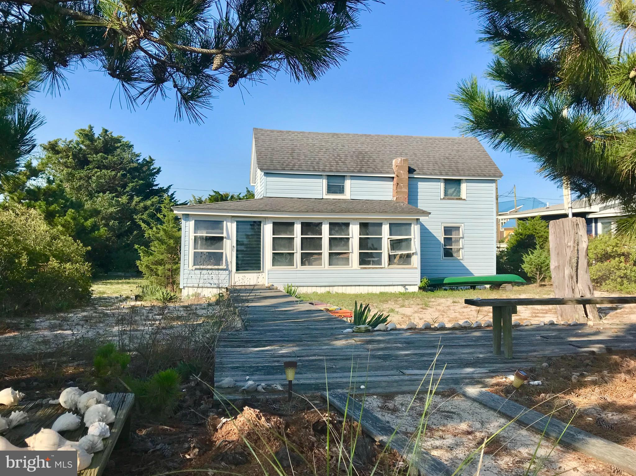 Quintessential Waterfront Cottage sitting on an impressive 80x170 Foot Lot.  Build your dream home or enjoy this historic cottage with panoramic views of the Delaware Bay and Amazing Sunsets over the wildlife refuge.