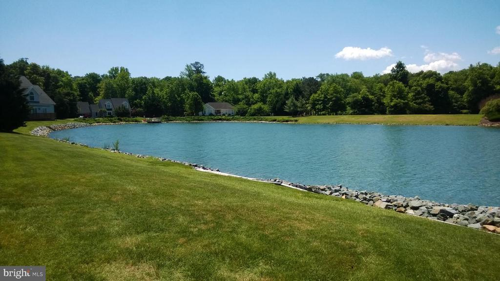 Pond Front  Custom Built Ranch  Home In Mill Pond Community Ready for You! Built by Bunting Construction, this Executive Home has plenty of opportunities for new homeowners. Build a pool, Build a screen porch. or relax on your 16x 11.9 patio. This 3 Bedroom Plus Office could easily be a 4 bedroom.