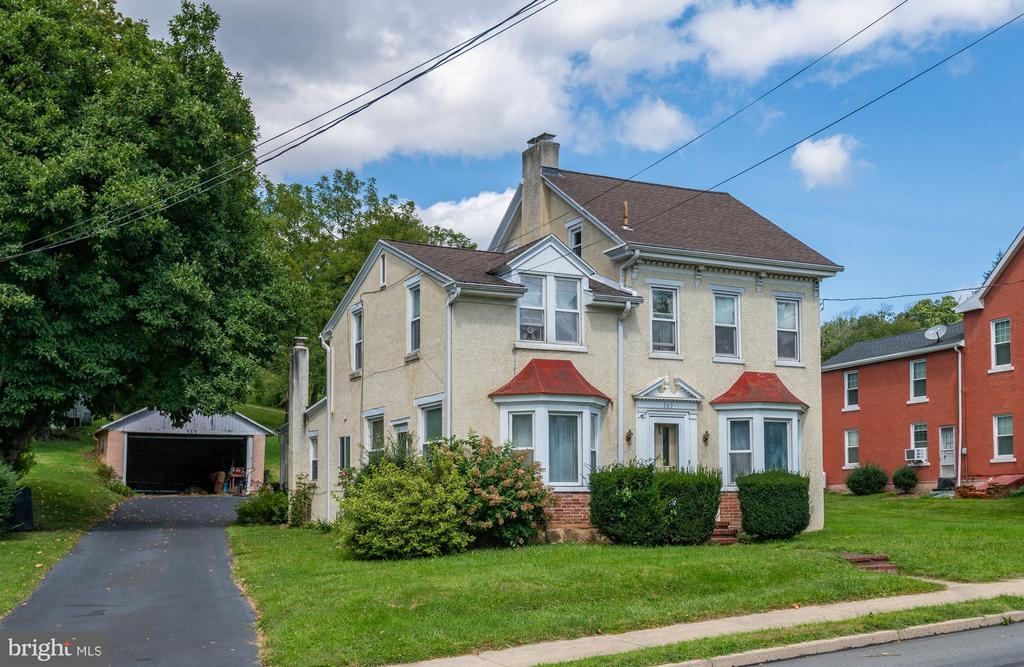 Here is a fantastic opportunity to own a piece of Boyertown and it's history ! This charming detached home in the heart of Boyertown is sitting on 0.48 acres. Property includes four bedrooms and two bathrooms with plenty of space. Washer & dryer setup on the main level for easy access.There is a walk up attic for plenty of storage. Outside the back yard provides space for grilling and seating. And a detached garage for off street parking.