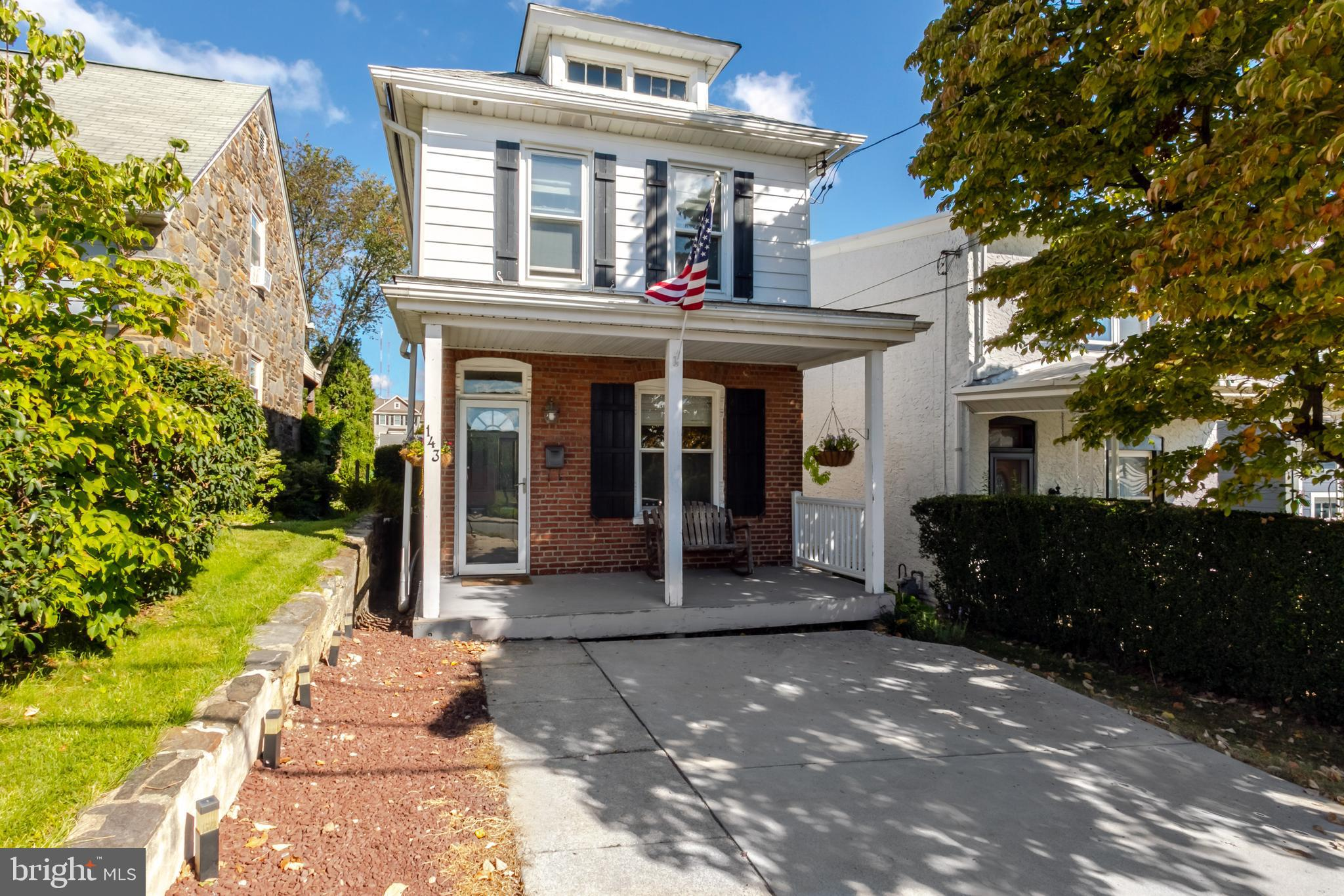 This Lower Merion gem of a home is completely move-in ready, has a beautiful and fully fenced backyard, private drive, front porch and is adorable!  Take advantage of the amazing location and one of the most highly sought after school districts!  This picture perfect 3 bedroom 1.5 bath home is ready to go!  Enter at the covered front porch and into the living room.  Beautiful pine floors, high baseboards and tons of natural light pouring in make you happy the moment you walk in.  The living room opens directly to the dining room.  The renovated kitchen has plenty of white shaker cabinets, a large center island for seating and serving and stainless steel appliances including a gas range.  The pine flooring spans throughout the first floor for a nice cohesive look.  Off the kitchen you'll be happy to find a laundry space as well as a perfectly tucked away half bath and access to the large back deck and huge fully fenced backyard!  Professionally landscaped and ready to enjoy!  The 2nd floor has 3 bedrooms with a primary that offers a built in storage unit.  The hall bath is spacious and fresh.  Plenty of storage in the basement of the home.  You can't beat the value of this single family home in the heart of Lower Merion Township!