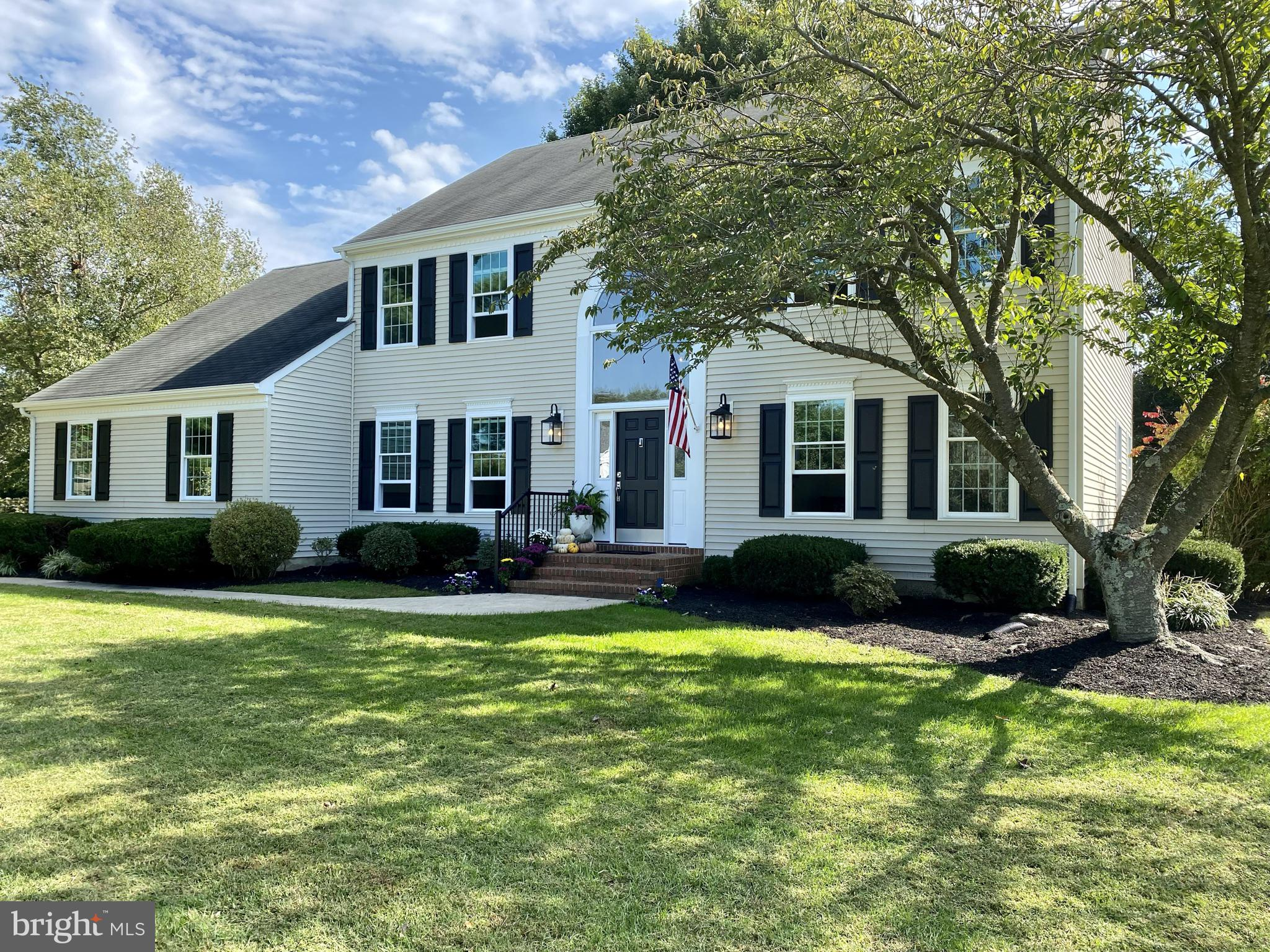 Great location and lots of updates!  Beautiful colonial in the popular Pennwood neighborhood.  Custom built and well-maintained by the original owners.  This home has now undergone extensive updates and is ready for new owners to enjoy.  The traditional layout has a great flow with large, open rooms and custom details throughout.  Enter through a grand, two-story foyer with large windows and plenty of natural light.  The open kitchen has original, solid wood oak cabinets with new Quartz counters, backsplash, and appliances including cooktop with pop up vent and double ovens.  All new cottage-style windows throughout the home.  Gas fireplace in family room that opens to original Trex deck with two French doors.  Downstairs bedroom with full en-suite that has been updated with custom finishes.  Upstairs are 3 bedrooms including a spacious primary suite with beautifully renovated and light-filled bathroom.  The en suite bath features a custom tile shower, double vanity with marble backsplash, and a freestanding tub in front of a corner filled with windows.  New flooring and paint throughout.  Upstairs laundry.  Large attic space over garage and full basement with bilco door provide plenty of storage space.  Newer HVAC system. The backyard is spacious with a large shade tree and greenery in the back for privacy.  Awesome location that is close to everything in a  neighborhood with custom homes  on larger lots.