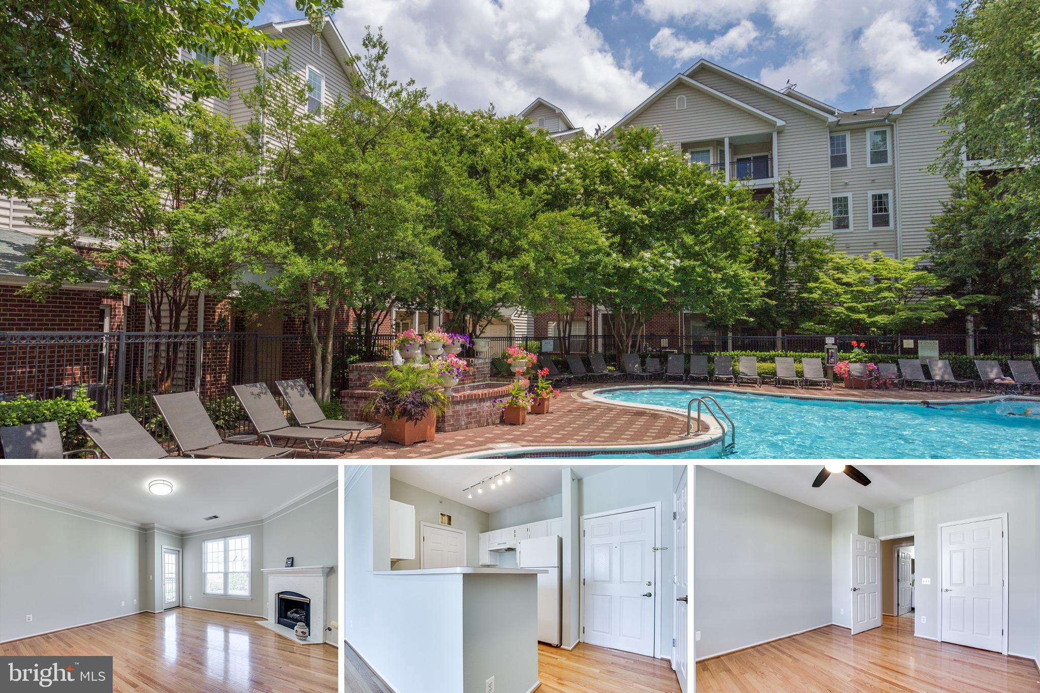 OPEN HOUSE SAT 10/23 12-2pm. Large and wonderful updated top floor 1 bedroom condo - walk to McLean Silver Line metro + Wegmans across the street. The 4th floor unit has garage parking, wood floors, new paint and fixtures, newer windows and is in a controlled access building. 1 garage parking spot(#67) conveys. You will also get 2 parking guest tags.   HVAC,  washer, dryer and dishwasher are new in 2021.   The Gates of McLean is a gated community with great amenities like an outdoor swimming pool, gym, clubhouse, sports court, grill area and walking paths. Minutes to everything in Tysons and minutes from toll road.